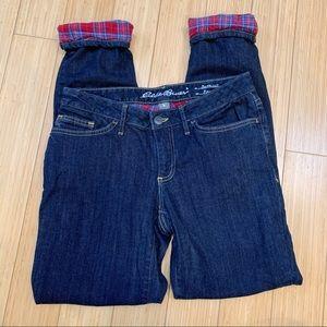 EDDIE BAUER flannel lined jeans, 2.